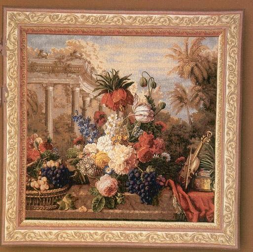 GOBELÄNG 1108 Bouquet Exotique. 150x150. Klicka för stor bild
