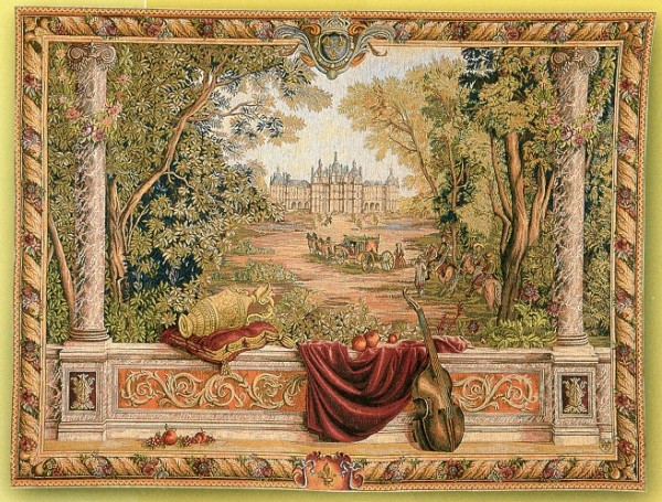 GOBELÄNG 9004 Verdure au chateau. 150x200. 110x150. 85x110. Klicka för stor bild.