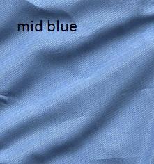 .Mid blue. Silk