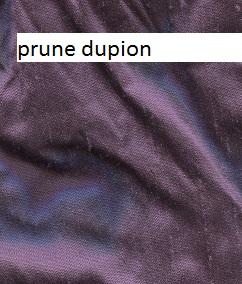 Prune dupion silk
