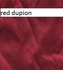 Red dupion silk