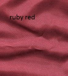 Ruby red silk