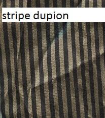 Stripe dupion silk